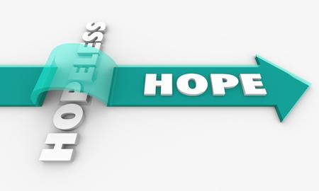 Hope for the Hopeless Positive Outlook Belief 3d Illustration Stock Illustration - 97491717
