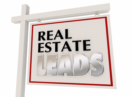 Real Estate Leads New Business Customers Sign 3d Illustration Stock Photo
