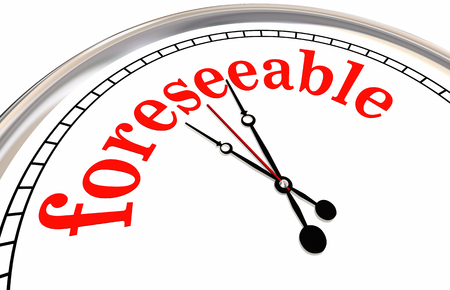 Foreseeable Future Clock Time Word 3d Illustration