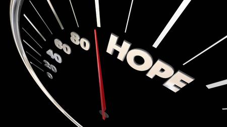 Hope Speedometer Faith Belief Confidence 3d Illustration