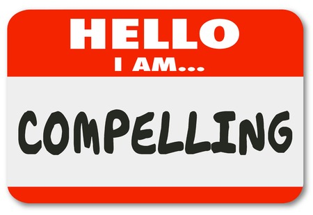 Hello I Am Compelling Exciting Interesting Name Tag 3d Illustration Stock Photo