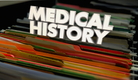 Medical History Records Documents Files 3d Illustration