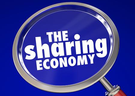 The Sharing Economy Working Job Tasks Gigs 3d Illustration Imagens