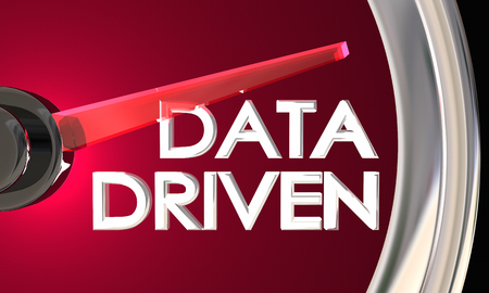 Data Driven Speedometer Car Motivated Facts Figures 3d Illustration
