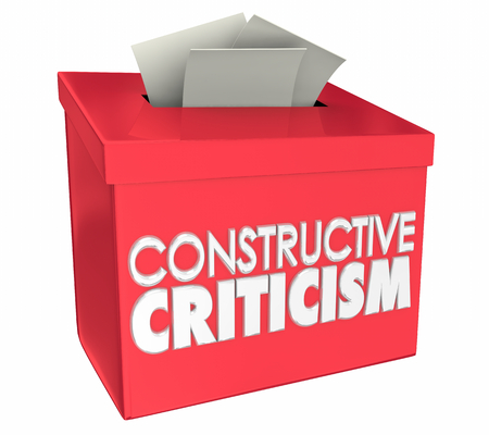 Constructive Criticism Feedback Improvement Ideas Box 3d Illustration