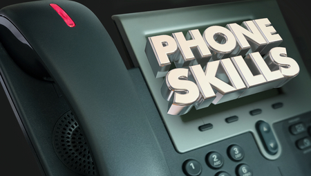 Phone Skills Telephone Calling Communication 3d Illustration
