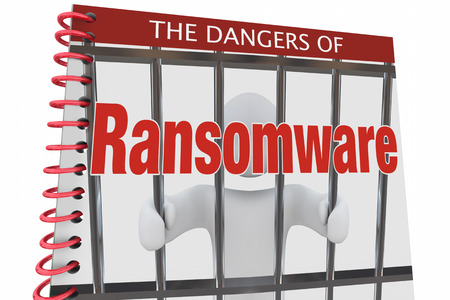 Dangers of Ransomware Internet Cyber Attacks Book 3d Illustration