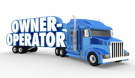 Owner-Operator Semi Truck Driver Words 3d Illustration Stok Fotoğraf