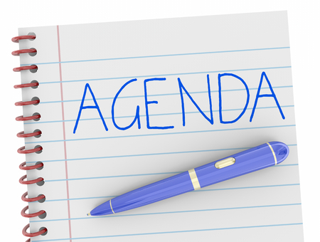 Agenda Pen Writing Word Notebook Plan 3d Illustration