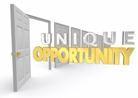 Opportunité Unique Chance Option Choix Spécial Porte Illustration 3d Banque d'images