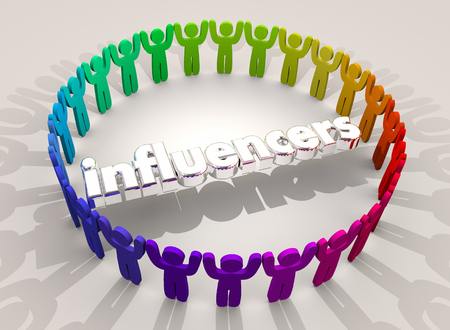 Influencers People Influencing Opinions Popularity 3d Illustration Stock Photo