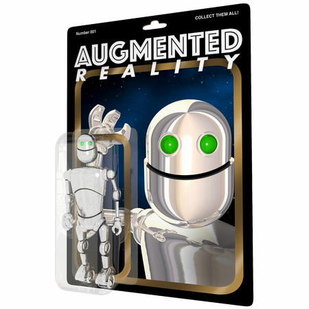 Augmented Reality Robot Virtual Digital Computer Figure 3d Illustration