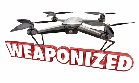 Weaponized Drone Attack War Modern Device 3d Illustration