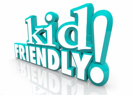 Kid Friendly Safe Children Youth Words 3d Illustration