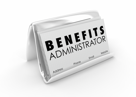 Benefits Administrator Health Care Employment HR Business Card 3d Illustration