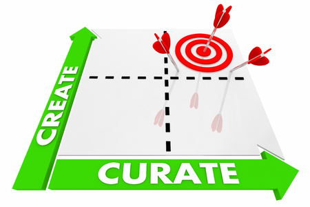 Create Vs Curate Matrix Best Choice 3d Illustration Imagens - 97904403