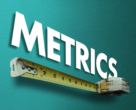 Metrics Measuring Tape Measurement Results Word 3d Illustration