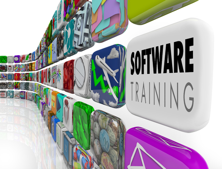 Software Training Course Teaching Application 3d Illustration Stock Photo