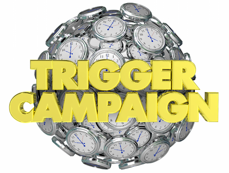 Trigger Campaign Marketing Clocks Customer Response 3d Illustration