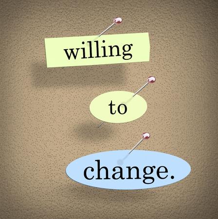 Willing to Change Improve Innovate Plan 3d Illustration Stok Fotoğraf - 97963947