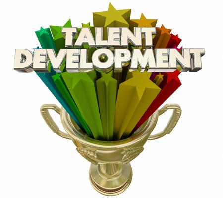 Talent Development Trophy Award Training Workforce 3d Illustration