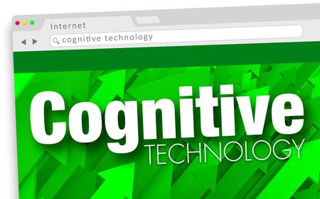 Cognitive Technology Website Information Learning Programming 3d Illustration