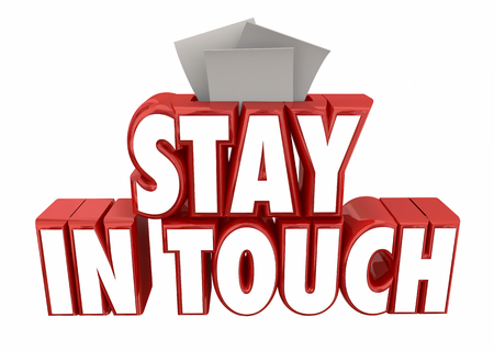 Stay in Touch Message Communication Notes 3d Illustration