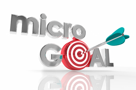 Micro Goal Specific Targeted Efforts Objective Mission 3d Illustration Stockfoto