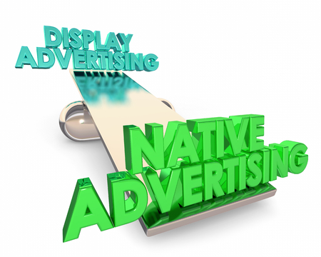 Native Vs Display Advertising Which is Best 3d Illustration