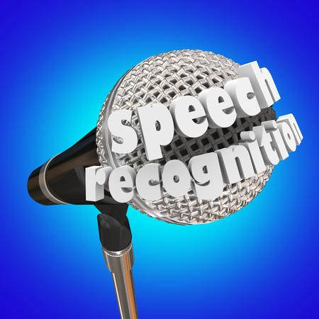 Speech Recognition Microphone Language Patterns 3d Illustration