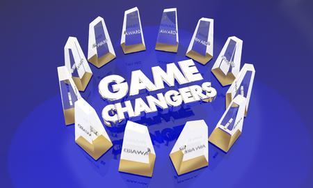 Game Changers Awards Best Top Prize Winners 3d Illustration