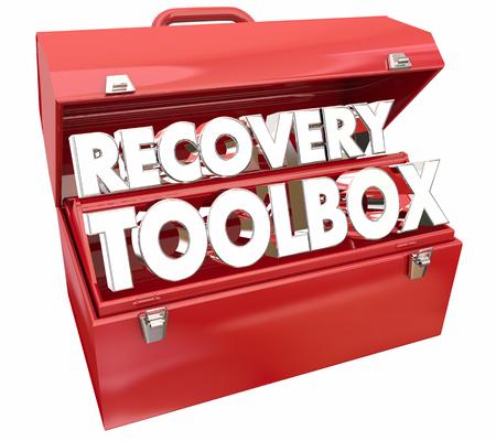 Recovery Toolbox Restore Return Normal Get Better 3d Illustration Foto de archivo