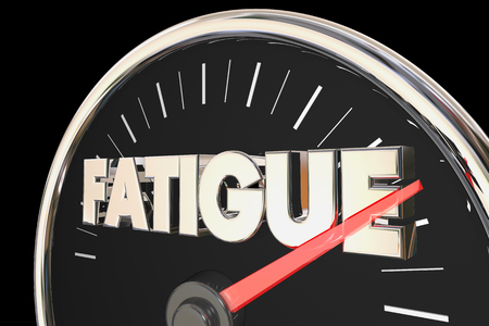 Fatigue Tired Low Energy Level Speedometer 3d Illustration Stock Photo
