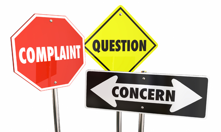 Complaint Question Concern Road Signs Feedback 3d Illustration