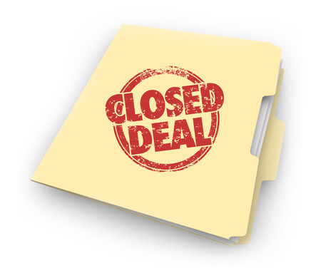 Closed Deal Final Contract Executed Folder File 3d Illustration
