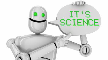 Its Science Robot Speech Bubble Scientific Discovery Learning 3d Illustration 写真素材
