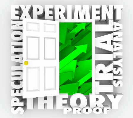 Experiment Theory Testing Scientific Research 3d Illustration