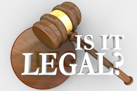 Is It Legal Question Judge Gavel Law Court 3d Illustration Archivio Fotografico