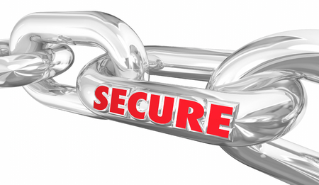 Secure Chain Links Security Protected Protection 3d Illustration