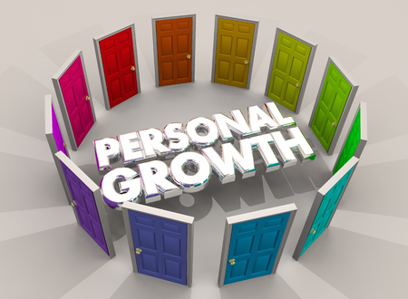 Personal Growth Doors Opportunity Learn New Experiences 3d Illustration