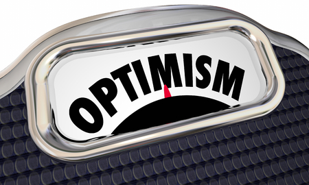 Optimism Scale Lose Weight Positive Feedback Attitude 3d Illustration