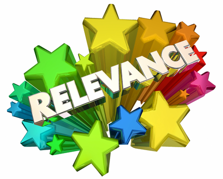 Relevance Word Stars Important Relevant Information 3d Illustration