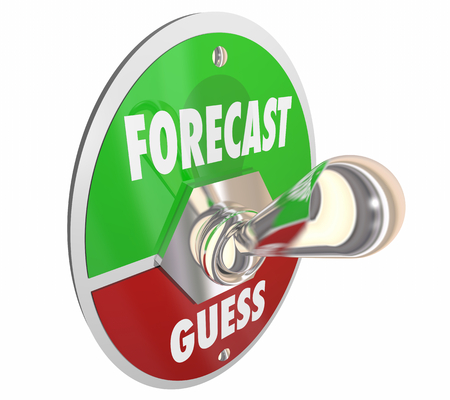 Forecast Vs Guess Estimate Outlook Speculation Switch 3d Illustration Stock fotó