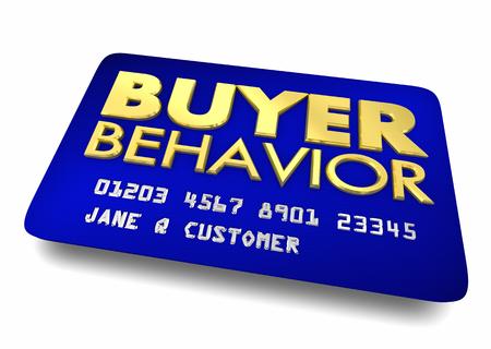 Buyer Behavior Credit Card Consumer Customer Persona 3d Illustration