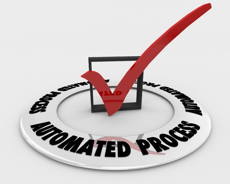Automated Process Check Box Mark Workflow Automation 3d Illustration