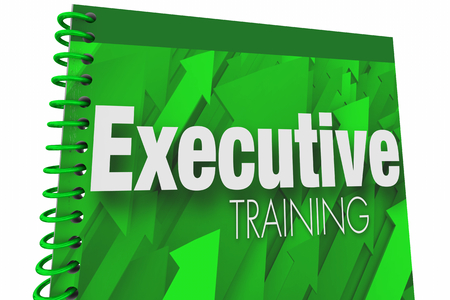 Executive Training Book Guide Manual Lesson Plan 3d Illustration