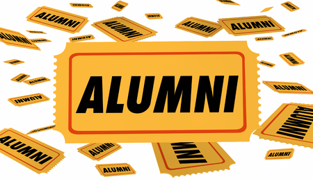 Alumni School Graduate Ticket Special Pass 3d Illustration