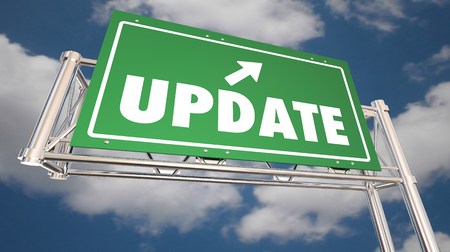 Update New Information Announcement Freeway Sign 3d Illustration