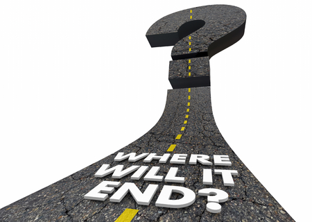 Where Will it End Final Destination Road Question 3d Illustration Stock Photo
