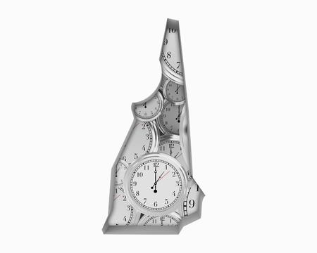 New Hampshire NH Clock Time Passing Forward Future 3d Illustration
